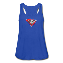Load image into Gallery viewer, East Coast Bombers Logo Women's Flowy Tank Top by Bella - royal blue