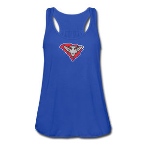 East Coast Bombers Logo Women's Flowy Tank Top by Bella - royal blue