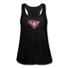 Load image into Gallery viewer, East Coast Bombers Logo Women's Flowy Tank Top by Bella - black