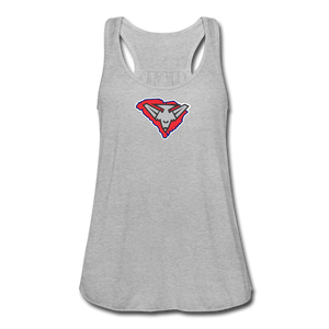 East Coast Bombers Logo Women's Flowy Tank Top by Bella - heather gray