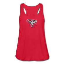 Load image into Gallery viewer, East Coast Bombers Logo Women's Flowy Tank Top by Bella - red