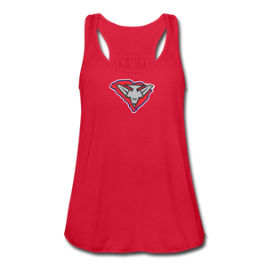 East Coast Bombers Logo Women's Flowy Tank Top by Bella - red