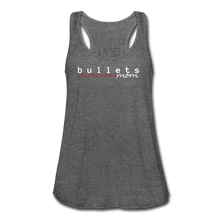 Load image into Gallery viewer, Bullets Mom Women's Flowy Tank Top by Bella - deep heather