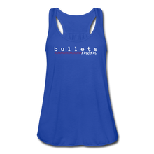 Load image into Gallery viewer, Bullets Mom Women's Flowy Tank Top by Bella - royal blue