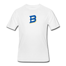 Load image into Gallery viewer, Bullets B Outline Men's 50/50 T-Shirt - white