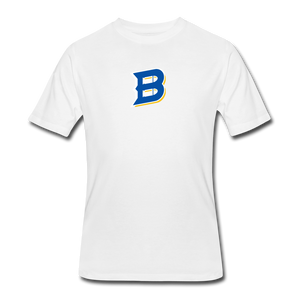 Bullets B Outline Men's 50/50 T-Shirt - white