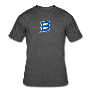 Bullets B Outline Men's 50/50 T-Shirt - heather black