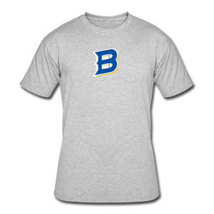 Bullets B Outline Men's 50/50 T-Shirt - heather gray