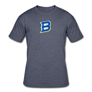 Bullets B Outline Men's 50/50 T-Shirt - navy heather