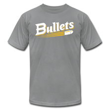 Load image into Gallery viewer, CUSTOMIZE ME!! Bullets Baseball Logo Unisex Jersey T-Shirt by Bella + Canvas - slate