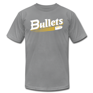 CUSTOMIZE ME!! Bullets Baseball Logo Unisex Jersey T-Shirt by Bella + Canvas - slate