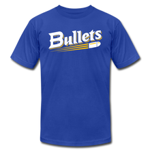 Load image into Gallery viewer, CUSTOMIZE ME!! Bullets Baseball Logo Unisex Jersey T-Shirt by Bella + Canvas - royal blue
