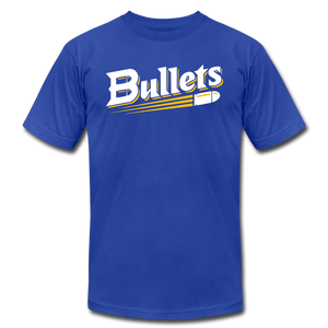 CUSTOMIZE ME!! Bullets Baseball Logo Unisex Jersey T-Shirt by Bella + Canvas - royal blue