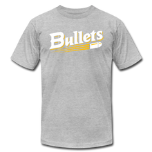 Load image into Gallery viewer, CUSTOMIZE ME!! Bullets Baseball Logo Unisex Jersey T-Shirt by Bella + Canvas - heather gray