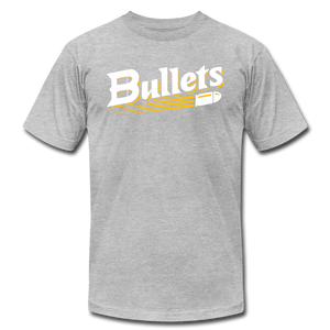 CUSTOMIZE ME!! Bullets Baseball Logo Unisex Jersey T-Shirt by Bella + Canvas - heather gray