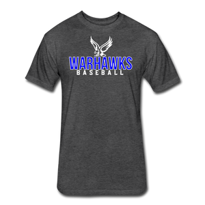 CUSTOMIZE ME!! Warhawks Bold Fitted Cotton/Poly T-Shirt by Next Level - heather black