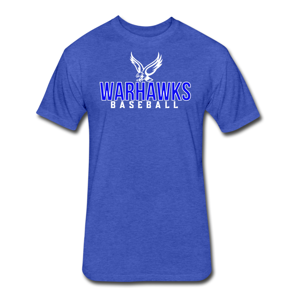 CUSTOMIZE ME!! Warhawks Bold Fitted Cotton/Poly T-Shirt by Next Level - heather royal