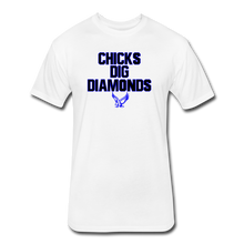 Load image into Gallery viewer, Warhawks Dig Diamonds Fitted Cotton/Poly T-Shirt by Next Level - white