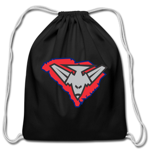 East Coast Bombers Logo Cotton Drawstring Bag - black