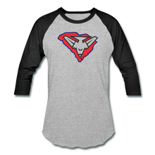 Load image into Gallery viewer, East Coast Bombers Logo Baseball T-Shirt - heather gray/black