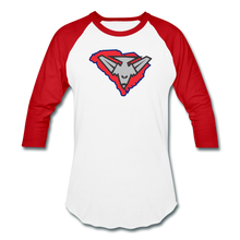 Load image into Gallery viewer, East Coast Bombers Logo Baseball T-Shirt - white/red