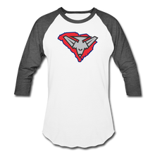 Load image into Gallery viewer, East Coast Bombers Logo Baseball T-Shirt - white/charcoal