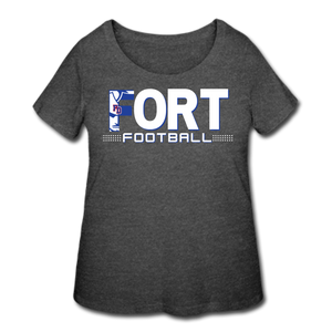 Fort Football Women's Curvy T-Shirt - deep heather