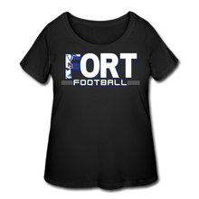Load image into Gallery viewer, Fort Football Women's Curvy T-Shirt - black