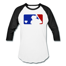 Load image into Gallery viewer, Love Softball Color Block Tee - white/black