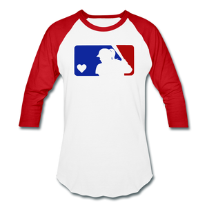 Love Softball Color Block Tee - white/red