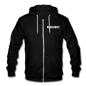 Warhawks Unisex Fleece Zip Hoodie-Customize Me! - black