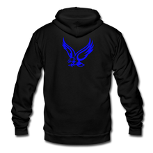 Load image into Gallery viewer, Warhawks Unisex Fleece Zip Hoodie-Customize Me! - black