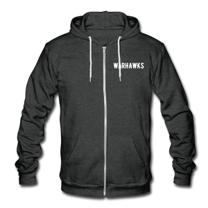 Warhawks Unisex Fleece Zip Hoodie-Customize Me! - charcoal gray