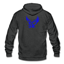 Load image into Gallery viewer, Warhawks Unisex Fleece Zip Hoodie-Customize Me! - charcoal gray