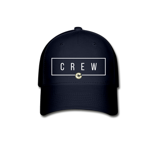 Crew Rectangle Baseball Cap-Customize Me! - navy