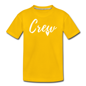 Crew Love Kids' Premium T-Shirt- Customize Me! - sun yellow