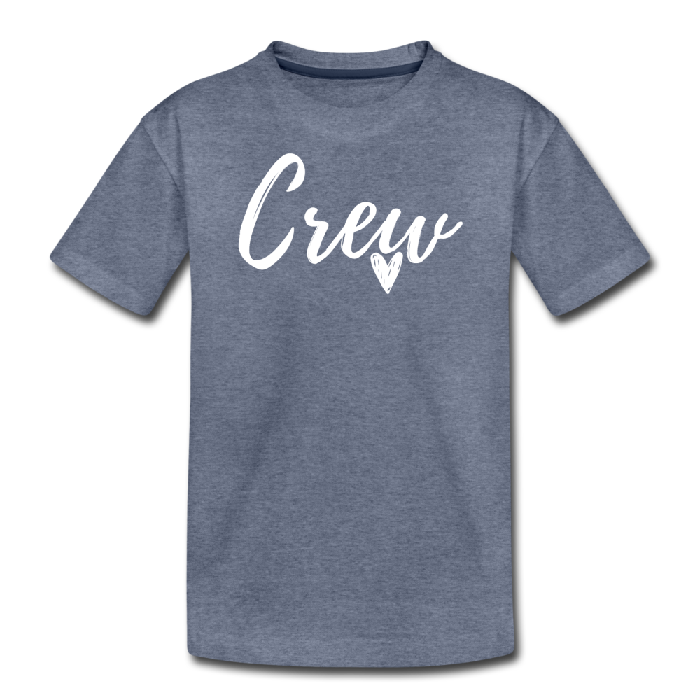 Crew Love Kids' Premium T-Shirt- Customize Me! - heather blue