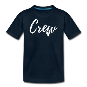 Crew Love Kids' Premium T-Shirt- Customize Me! - deep navy