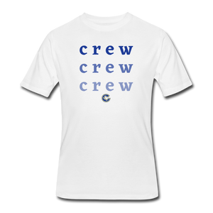 Crew Ombre Men's 50/50 T-Shirt- Customize Me! - white