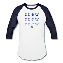 Load image into Gallery viewer, Crew Ombre Baseball T-Shirt- Customize Me! - white/navy