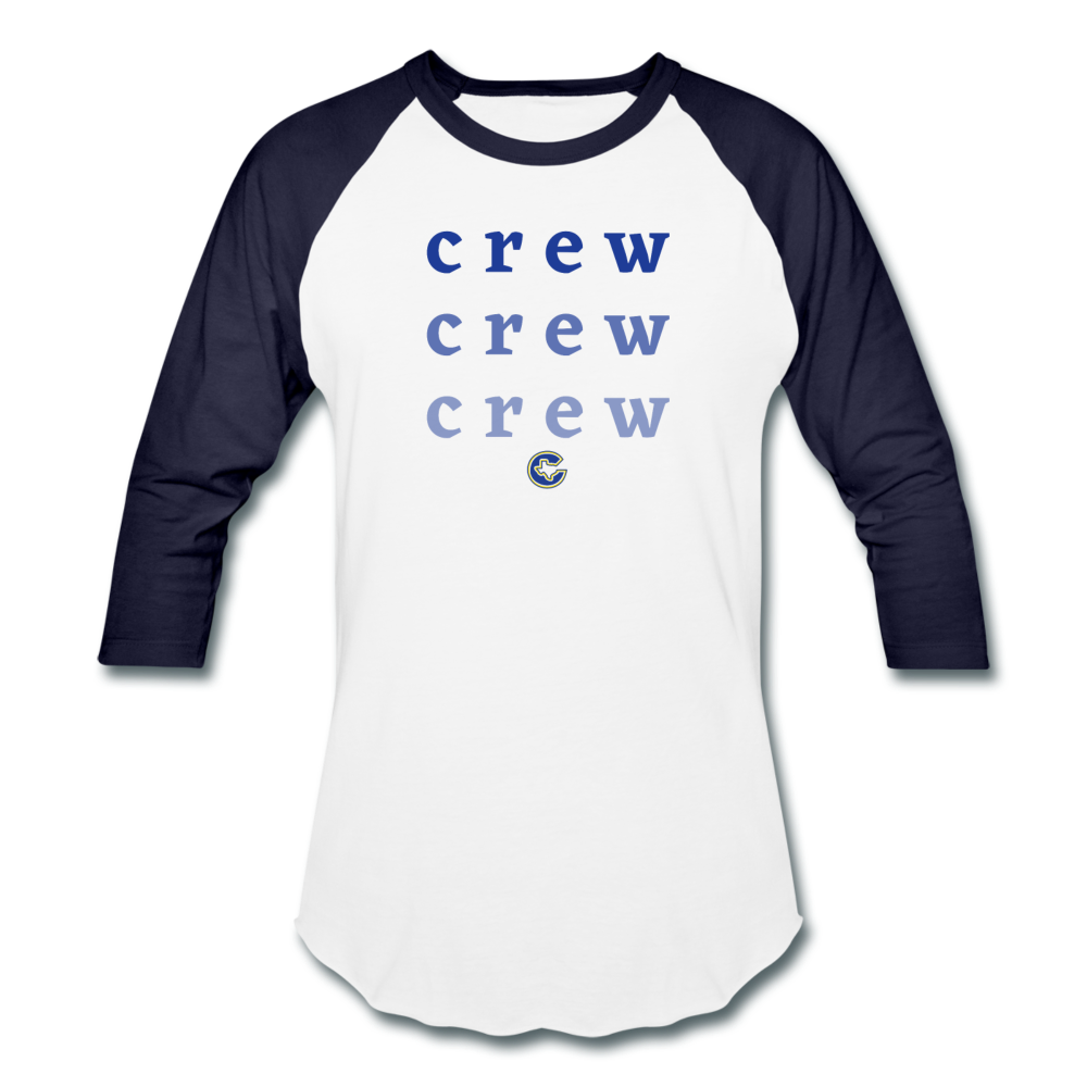 Crew Ombre Baseball T-Shirt- Customize Me! - white/navy