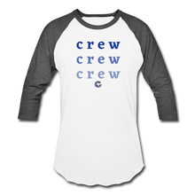 Load image into Gallery viewer, Crew Ombre Baseball T-Shirt- Customize Me! - white/charcoal