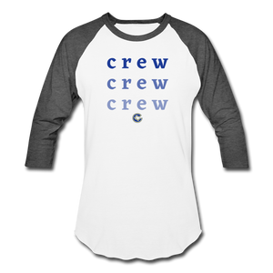 Crew Ombre Baseball T-Shirt- Customize Me! - white/charcoal
