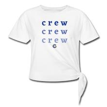 Load image into Gallery viewer, Crew Ombre Women's Knotted T-Shirt- Customize Me! - white
