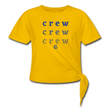 Load image into Gallery viewer, Crew Ombre Women's Knotted T-Shirt- Customize Me! - sun yellow