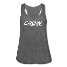 Load image into Gallery viewer, Crew Baseball Bold Women's Flowy Tank Top by Bella - deep heather