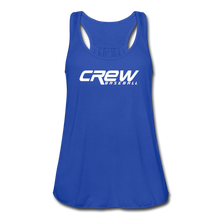 Load image into Gallery viewer, Crew Baseball Bold Women's Flowy Tank Top by Bella - royal blue