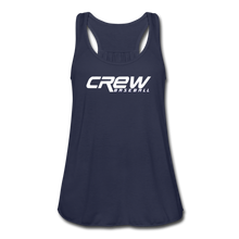 Load image into Gallery viewer, Crew Baseball Bold Women's Flowy Tank Top by Bella - navy