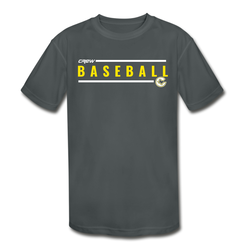 Crew Baseball Line Kids' Dri-Fit- Customize Me! - charcoal