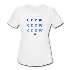 Crew Ombre Women's Dri-Fit- Customize Me! - white